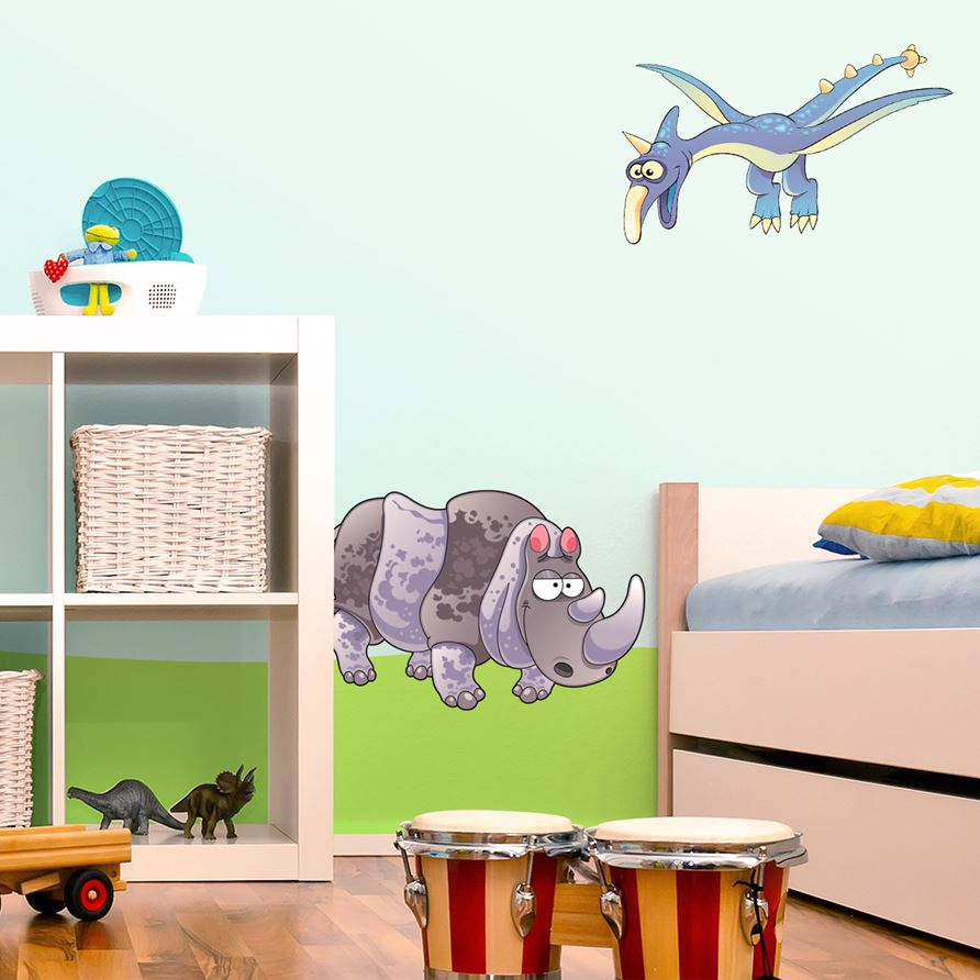 Adesivi murali rinoceronte leostickers for Planner cameretta